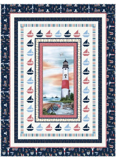 "Coastal Dreams Quilt by Wendy Sheppard / 61""x81"""