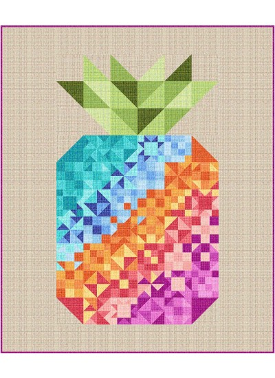 "Coco Pineapple Party by Swirly Girls Design /60""x72"""