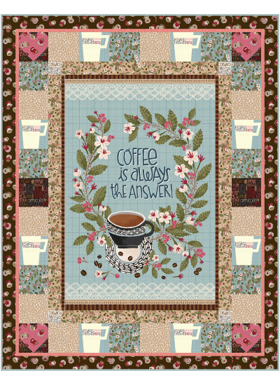 """The Pefect Cup Quilt by Marsha Evans Moore42.5""""x54.5"""" - Pattern available in August, 2021"""