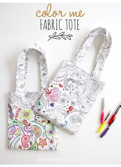 Color Me Fabric Tote by The Sewing Rabbit