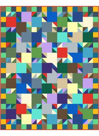 "Lucky 21 quilt by Swirly Girls Design 57""x72"""