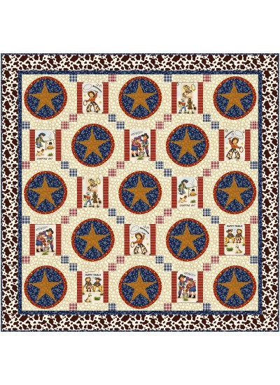 """A New Sherrif in Town Quilt by Natalie Crabtree /52""""x52"""" - pattern available in November"""