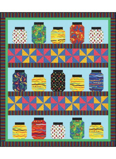 Creepy Crawlies Quilt by Heidi Pridemore