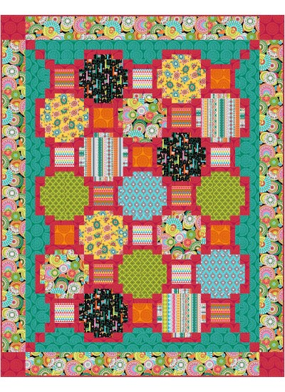 "Focus Pocus -Culture Club Quilt by Swirly Girls Design 72""x92"""