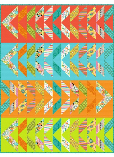 """Opposite Directions Quilt by Lisa Swenson Ruble 59""""x77"""""""