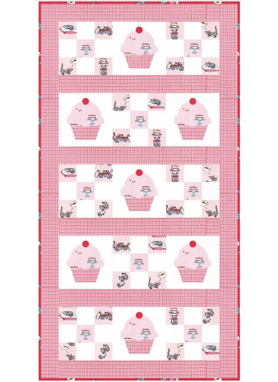 "Cupcake Cutie Runner in Pink by Stephanie Sheridan /22""x42"""