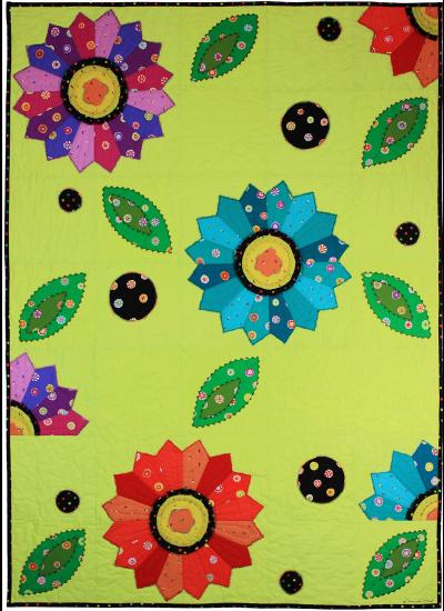 """Dancing Dahlias by Marinda Stewart / 40x56"""""""
