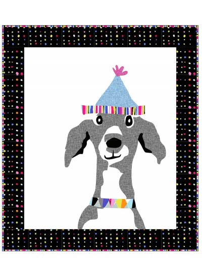 "Dog Show Portrait Quilt by Susan Emory  /38""x44"""