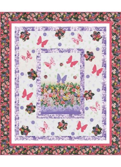 "Fairy Dream Quilt by Heidi Pridemore   / 55x65"""