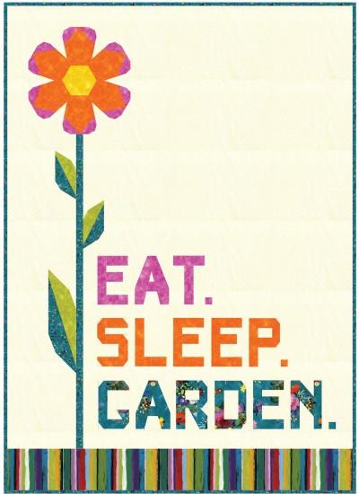 """Eat, Sleep, garden Quilt by Hunter's Design Studio /50""""x70"""""""