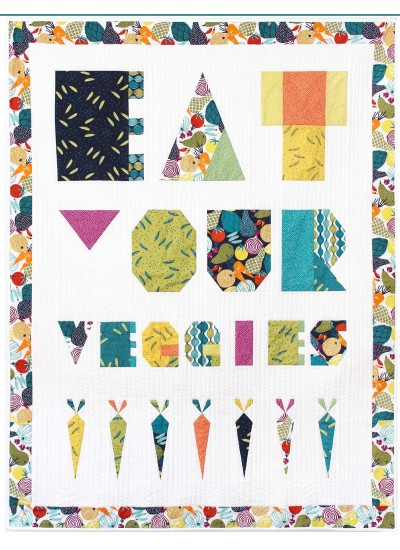 "Eat Your Veggies Quilt by Tamara Kate /44""x57"""