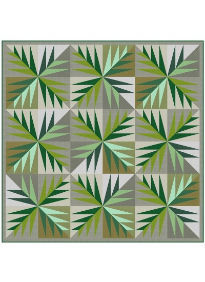 "Evergreen Quilt by Natalie Crabtree /48""x48"""