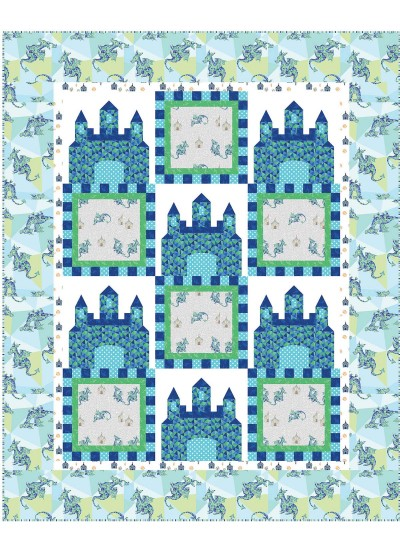 "Fairy Tales Aqua Quilt by heidi pridemore /64""x79"""