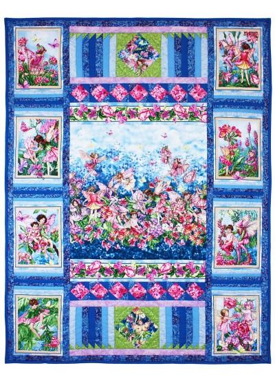 "Fairy Whispers Quilt by Marinda Stewart /40.5""x52.5"""