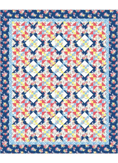 "Farmhouse Quilt by Swirly Girls Design /82""x100"""