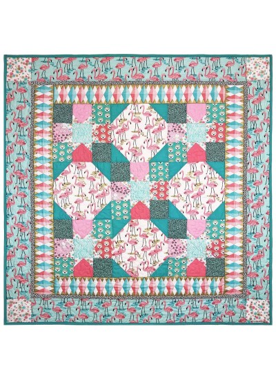 "Flamingo Bay Quilt by Marinda Stewart /41.5""41.5"""