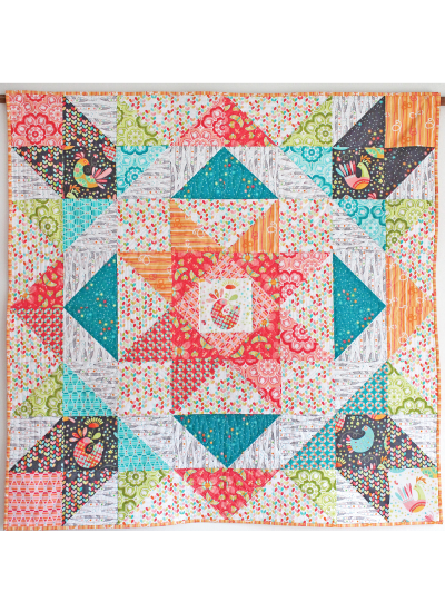 Flight Medallion Quilt by Tamara Kate / 48x48""