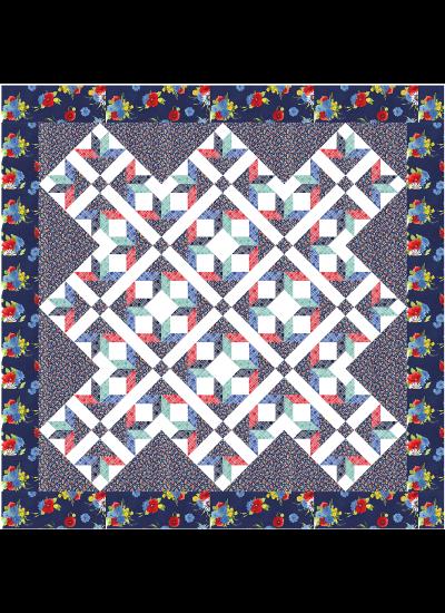 "Floret Quilt by Susan Emory / 72x72"""