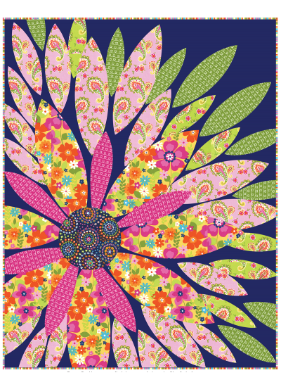 "Flowertopia Quilt by Heidi Pridemore /39""x50"""