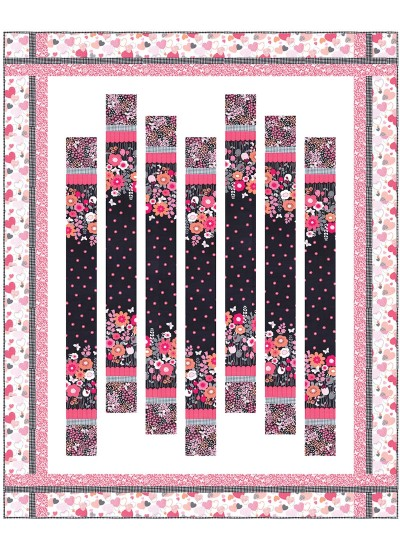 "Flutterby Floral Quilt by Heidi Pridemore  /64""x79"""