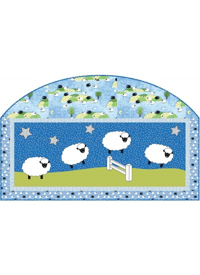 "Following Ewe Blue Quilt by Heidi Pridemore/46""x41.5"""