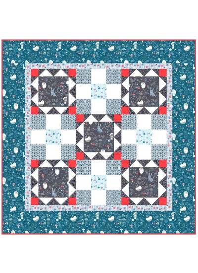 "Forest Friends Quilt by Heidi Pridemore /51""x51"""