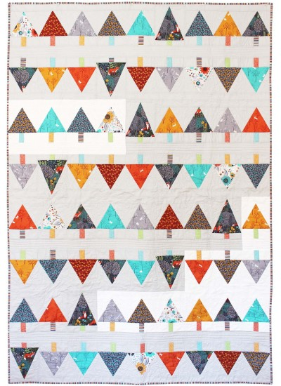 "Forest Row Quilt by Tamara Kate Designs /54""x80"""