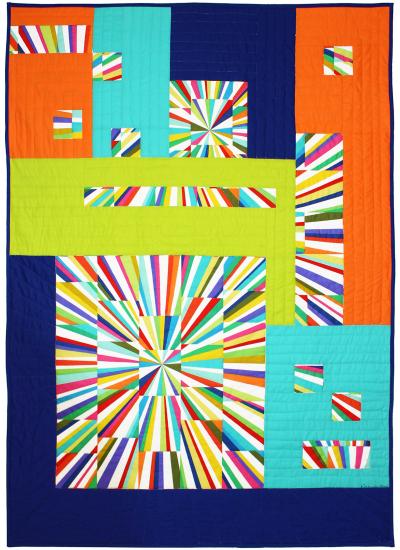 Fractured Fireworks Quilt by Marinda Stewart