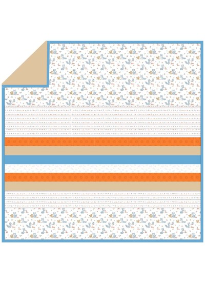 Friendly Critters - Minky Strip Quilt /58x58""