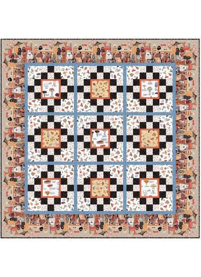 "Funky Fungi Quilt by heidi Pridemore /60""x60"""