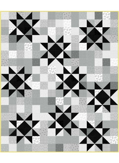 """Twinkle Graydations Quilt by Swirly Girls Design 60""""x72"""""""