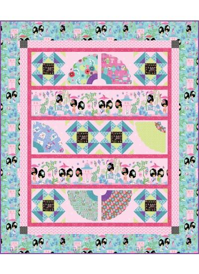 """Little Geishas Quilt by Heidi Pridemore /52""""x61"""""""