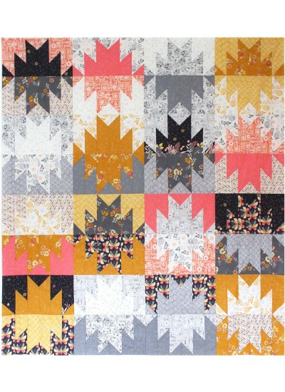 Giant Peaks Quilt By Tamara Kate 78x88 Night Garden