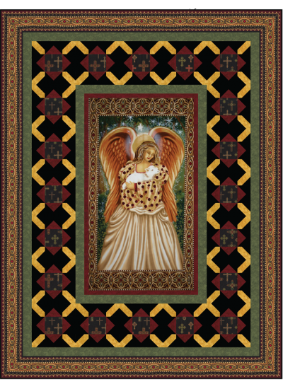 Glorious Angel Quilt by Heidi Pridemore
