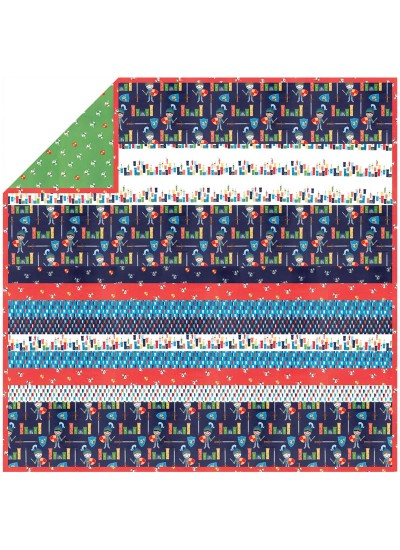 Good Knight primary - Minky Strip Quilt /58x58""