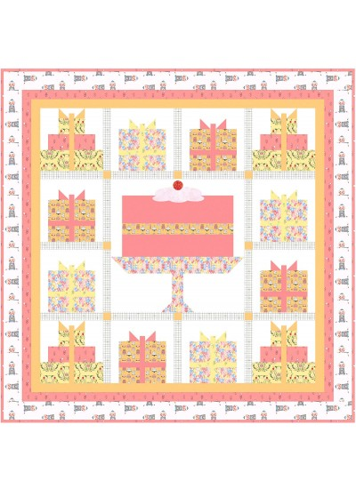 "Happy Birthday Sorbet Quilt by Natalie Crabtree /68-1/2""x68-1/2"""
