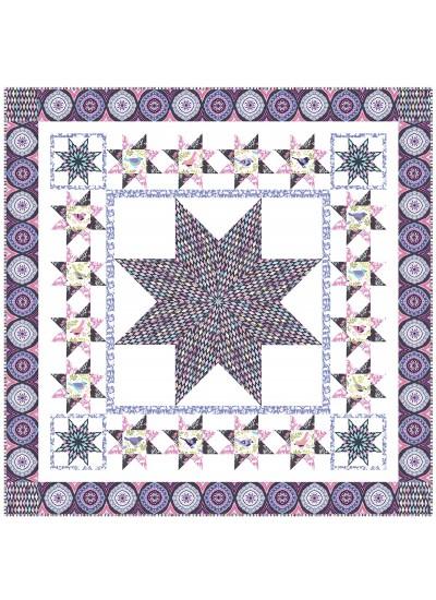 "Happy Bird Purple by Heidi Pridemore   /53""x53"""