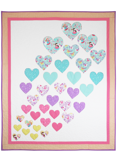 Hearts a Flutter Quilt by Heidi Pridemore  / 57x69""