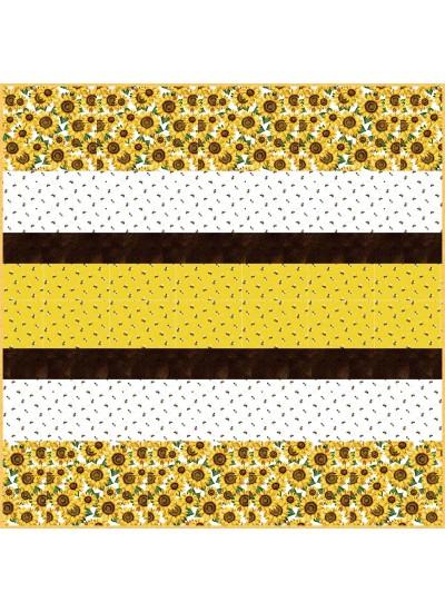 Hello Sunshine MINKY Strip Quilt