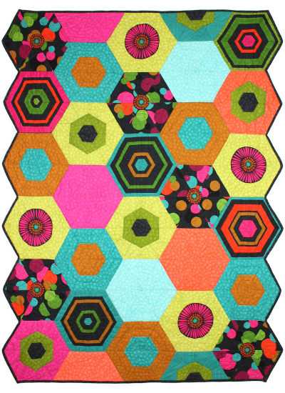 Hexagon Puzzle QUILTS by Marinda Stewart