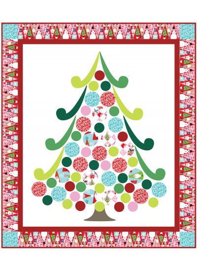 Holiday Row Quilt by Heidi Pridemore /38x44""