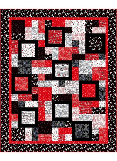 "Big ten Quilt by Susan Emory /86""x106"""