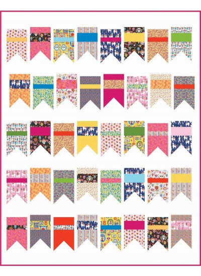 """Summer Bunting Quilt by Diary of a Quilter /66""""x84"""""""