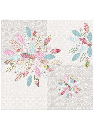 """Scrap petal garden Quilt by Penni Domikis 70""""x86"""""""