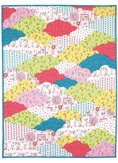 "Up in the Clouds Quilt by Marsha Evans Moore /36""x48"""