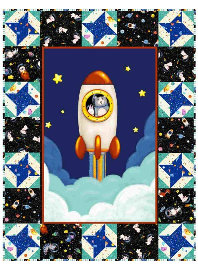 "Lift Off Quilt by Susan Emory /32""x42"""