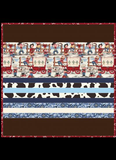 """Lil Cowpokes -Strip Quilt /58x58"""""""