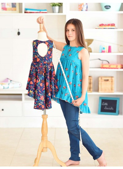 Little Sewists - Arendelle Dress and Leiden Top