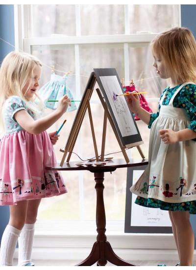 Little Sewists - Roanoke Dress and Hazel Dress Layered under Lillesand