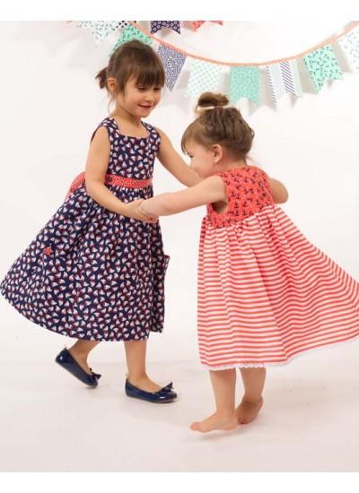 The Littles Navy Sailboats Dress